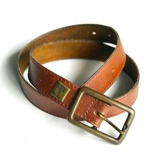 Vintage Guess genuine leather brown belt Medium